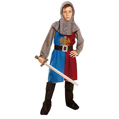 Desconocido My Other Me-201160 Viving Costumes 201160 Costume de chevalier médiéval Bleu/grenat 10-12 ans