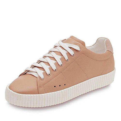 ESPRIT 126EK1W011 675 Karola Lace Up Damen Sneaker aus Lederimitat Plateausohle, Groesse 38, rosé