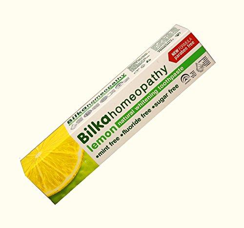 Homöopathie Zahncreme, Homöopathische Zahnpasta mit Xylitol, Zitronen Geschmack, Fluorid frei, Menthol frei, Zucker frei, 75ml
