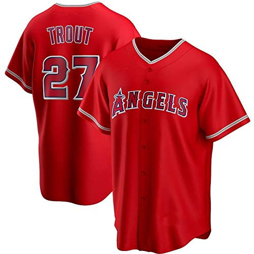 JMING Camiseta De Béisbol para Hombre, Angels 17 Ohtani 6 Rendon 27 Trout Aficionados Y Aficionados Uniformes De Béisbol,Uniformes De Juego, Camisetas Deportivas De Manga Corta (XXL,A7)