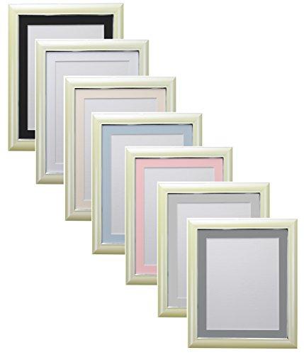 Marco de fotos FRAMES BY POST Soda Cream con soportes en negro, blanco, marfil, azul, rosa y gris claro y oscuro, Plástico reciclado., montura azul, 40 x 50 cm For Image Size 16 x 12 inch