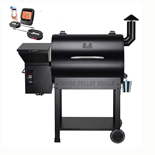 Z GRILLS Wood Pellet Smoker , 700sq in 8-1 BBQ Grill,Auto Temperature Control Pellet Smoker(Cover,Oil Collector Included)-7002BPRO