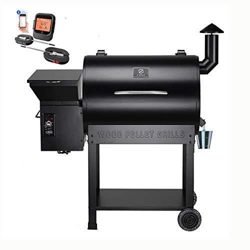 Z GRILLS Wood Pellet Smoker , 700sq in 8-1 BBQ Grill,Auto Temperature...