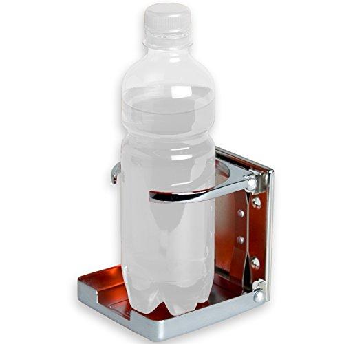 Tuniro® Flaschenhalter aus verchromtem Stahl, Kicker Tischfussball Getränkehalter Dosenhalter Cupholder faltbar/klappbar