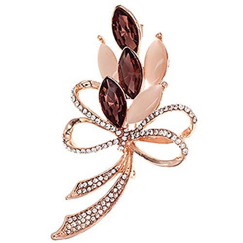 Pines de joyería para mujer Broche - Ropa atmosférica de lujo Accesorios de accesorios Chaqueta Cardigan Elegante broche adecuado for cualquier ocasión de fiesta Elegante y hermoso ( Color : Purple )