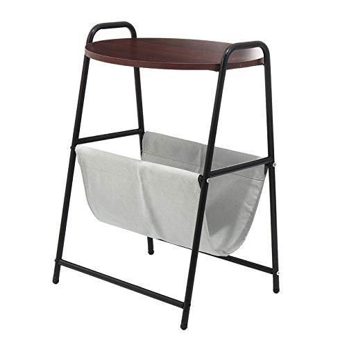 FGDSA Bedside Table Removable Side Table Bedside Cupboard Nightstand Laptop Desk Round Tea Table With Storage Basket Table Modern Design Bedroom Furniture (Size:45 * 38 * 67cm; Color:Red Mahogany)
