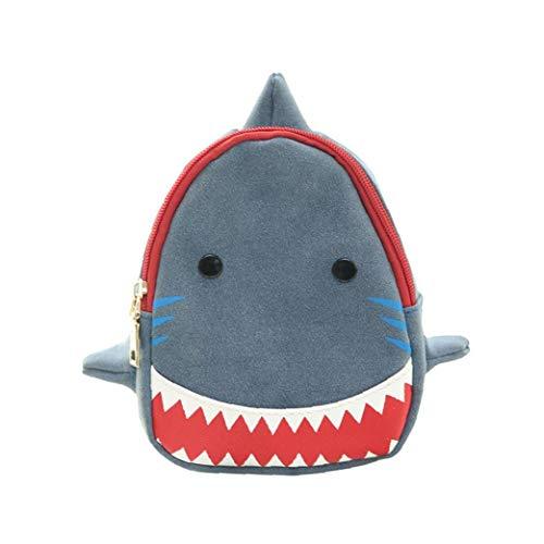 Cruz De Dibujos Animados Bookbag Elegante Tiburón Boca Grande Mochila Niños Prácticas Bolsa De Hombro para El Azul Al Aire Libre