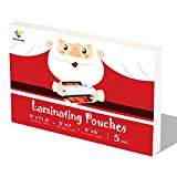 with Christmas Gift Box, Thermal Laminating Pouches, 5 mil, Letter Size, Photo Size, 9×11.5 inches, 5×7 inches, 4×6 inches, 100(50+25+25) Packs, Used for Laminator Machine by WONLAMI