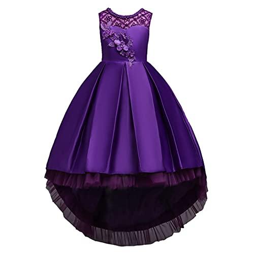 Alvivi Vestido Elegante de Fiesta para Niña Vestido Princesa Dulce de Dama...