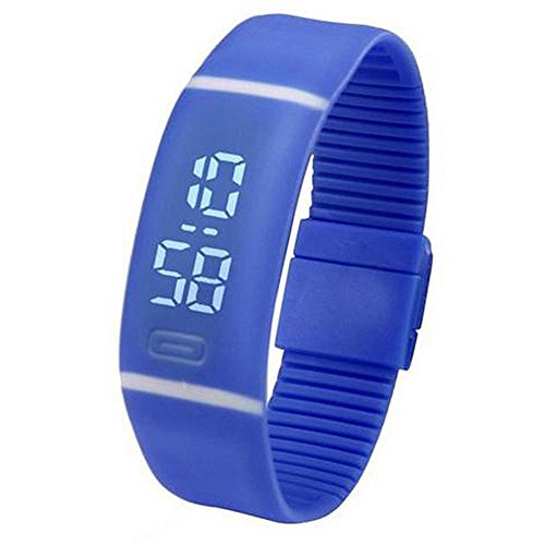 Domybest uomini donne elettronico display LED orologi sportivi Boy Girl plastica orologio da polso digitale