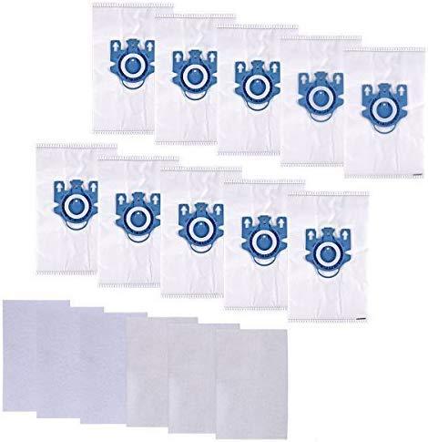 10 Stück Staubsaugerbeutel für Miele Staubsaugerbeutel Classic C1,C2,C3,S2000,S5000 und S8000 Serie, Gn hyclean(10 Papiertüten + 6 Accessimo Microfilter), Ersetzt Teilenummer 9917730 von KEEPOW