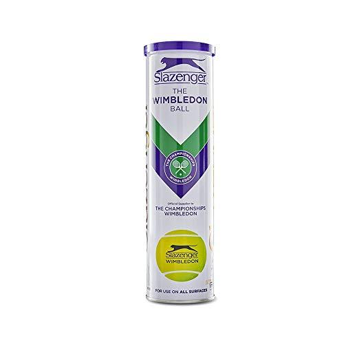 Slazenger Wimbledon 4-Ball-Dose 340918, Gelb, Einheitsgröße