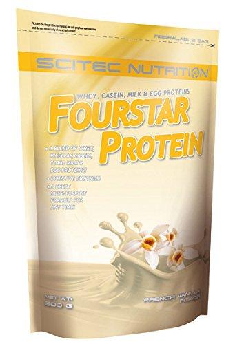 Scitec Nutrition Four Star Whey, Casein, Milk and Egg Protein Powder - 500g, French Vanilla