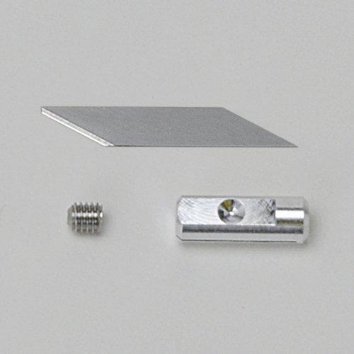 本多電子 エコーテック ホビー用 小型超音波カッター 替え刃 薄刃0.15mm(5枚入)セットZH14S(薄刃とビスと刃固定具のセット)(ZO-40B ZO-40W ZO-30 ZO-41ZO-41II ZO-80)プロユーザー向け