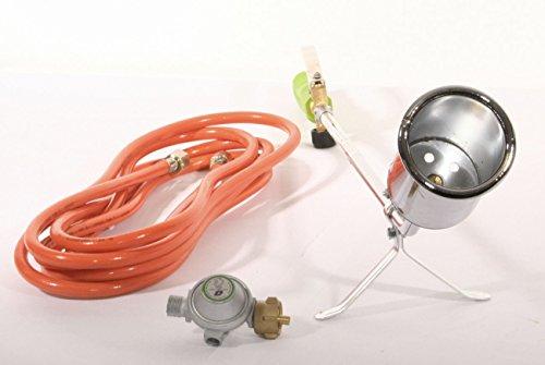 Grodenberg Abflammgerät PQ830 Gasbrenner im Set inkl. Druckminderer und 5m Gasschlauch Unkrautvernichter