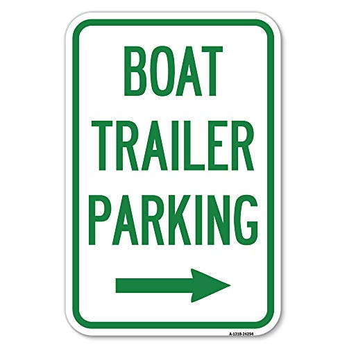 """Boat Trailer Parking (with Right Arrow Symbol) 
