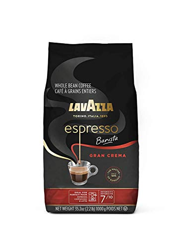 Lavazza Espresso Barista Gran Crema Whole Bean Coffee Blend, Medium Espresso Roast, Oz Bag (Packaging May Vary) Barista Gran Crema - 2.2 LB, 35.2 Ounce