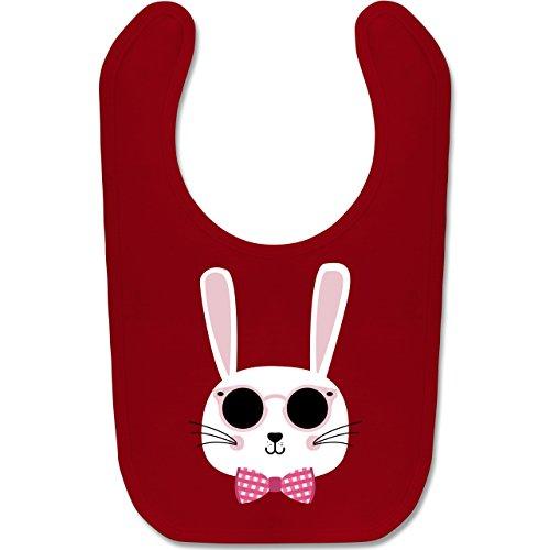 Shirtracer Tiermotive Baby - Osterhase Sonnenbrille Rosa - Unisize - Rot - BZ12 - Baby Lätzchen Baumwolle