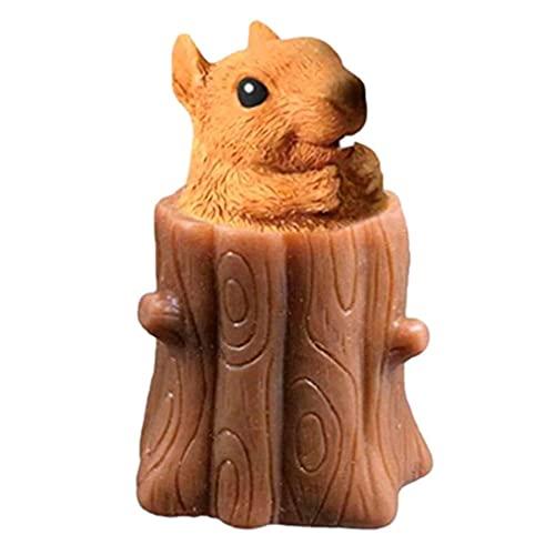 YJLYQ Squirrel Squeeze Toy, Niedliche Miniatur Teleskopstifthalter, Benutzt für Angstentlastungsspielzeug für Kinder und Erwachsene