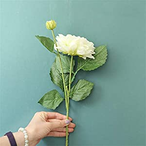 Fake Flower 4 Colors 2 Heads Silk Dahlia Artificial Flower Wedding Silk Flowers for Home Wedding Decoration Party Fake Flower Artificial Roses Flower