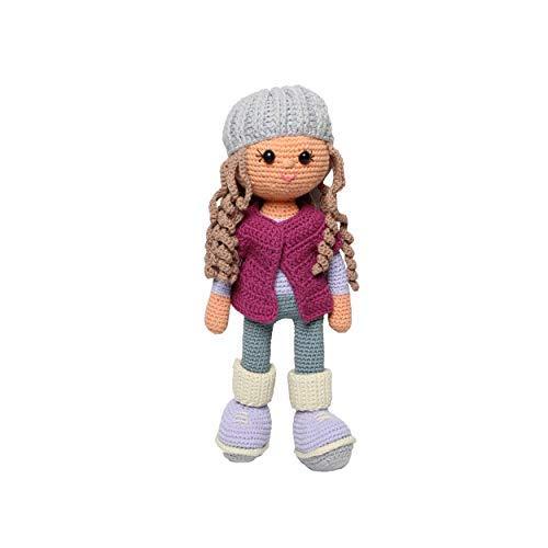 Walkiddy Puppe Ida Bio-Baumwolle, Organic mit Schurwolle