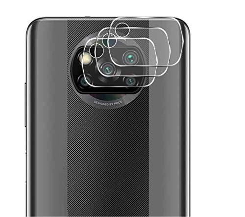 GEEMEE Kamera Panzerglas Schutzfolie für Xiaomi Poco X3 NFC,9H Filmhärte Gehärtetem Schutzglas Hohe Empfindlichkeit Panzerglas Displayschutzfolie- 3 Pack