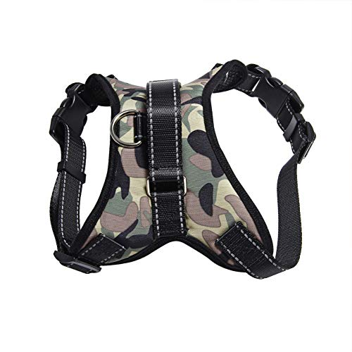 AKDSteel Hundegeschirr, stoßfest, Camouflage, Grau Gray Camouflage-s