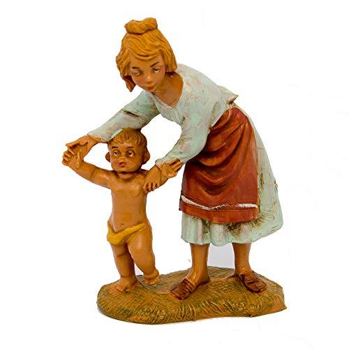 Fontanini Statuine Presepe: Pastorella con Bimbo 10 cm 208