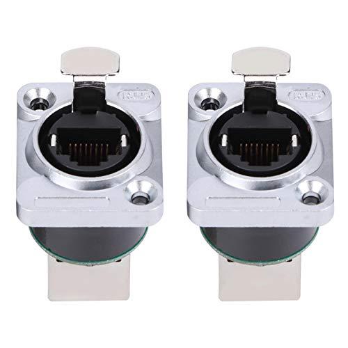 2 uds conector de ángulo recto RJ45 aislante ignífugo ignífugo Material ignífugo YT-RJ45 enchufe de aviación