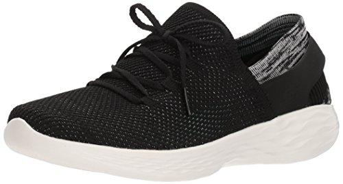 Skechers Damen You - Spirit Slip On Sneaker, Schwarz (Black/White), 41 EU