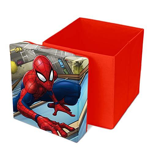 Spider-Man Marvel Sitzhocker Spielzeugkiste Aufbewahrungsbox Ordnungsbox