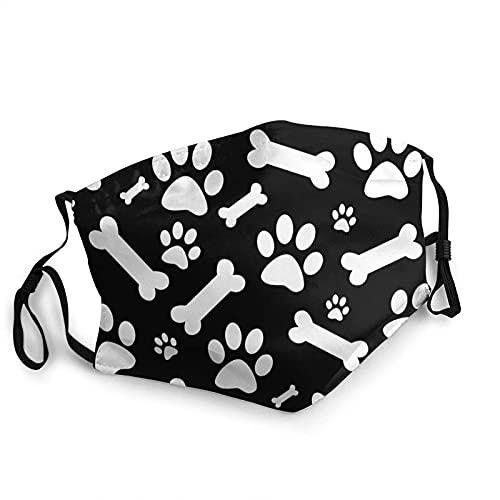 Dog and Dog Paw Prints Face Mask Sinkcare Washable with Adjustable Elastic Ear Loops Reusable Print Bandanas
