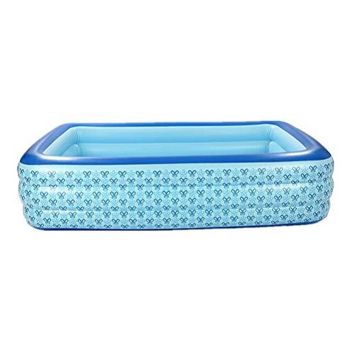 DFSDG 300 x 180 x 60 cm, piscina inflable súper grande al aire libre interior para adultos, niños, piscina, piscina, piscina, piscina, hogar, patio trasero (color: estilo A)