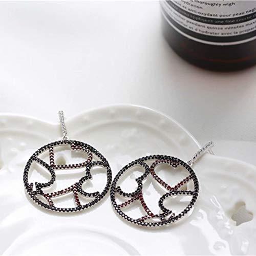 YZX Pendientes Circulares para Mujer S925 Joyas de Plata esterlina, adecuados para Novias Hermanas cumpleaños