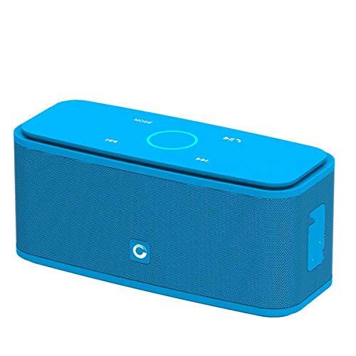 Altavoz Bluetooth Caja de Sonido Control táctil Altavoz Bluetooth Altavozinalámbrico portátil Estéreo Caja con bajo y micrófono IncorporadoAzul