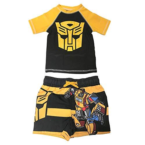 Transformers Rash Guard Swim Trunks and Swim Shirt 2-Piece Set with UPF 50+ UV Protection (2T)