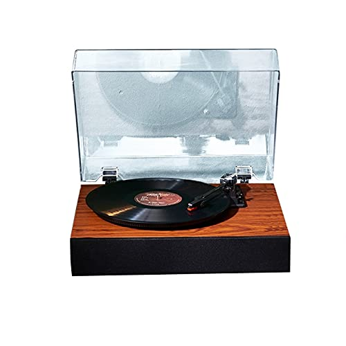 NBLL Turnato Giratorio de Bluetooth del Reproductor de Vinilo, fonógrafo de Altavoz Incorporado, múltiples Modos de reproducción, con Cubierta de Polvo, para Entretenimiento y decoración del hogar