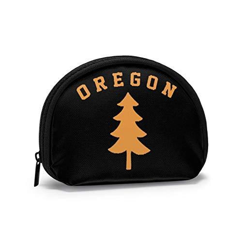 Monedero Oregon Douglas Pine Tree Shell Bolsa de almacenamiento para las mujeres bolso multifunción portátil cosméticos bolsos cartera