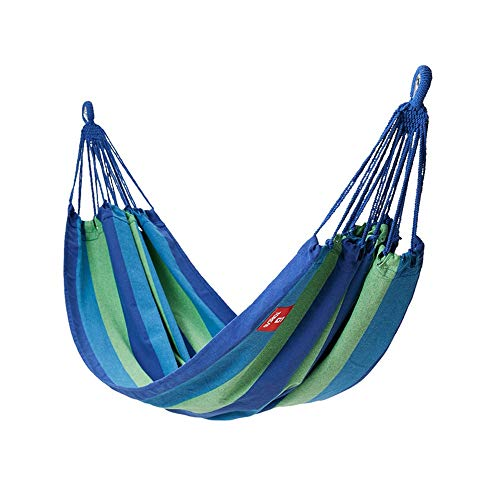 ZhaoXH Doble Individual Jardín Al Aire Libre Camping Hamaca, Cama de Hamaca de Algodón para Hamacas de 1/2 Persona, Portátil, Suave, con Bolsa de Transporte, Hamaca para Exteriores E Interiores