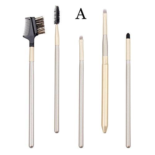 Brosse de Maquillage, Hunpta 5 pcs Lot de brosse de maquillage fard à paupières Brosse cosmétiques Estompeur Outil