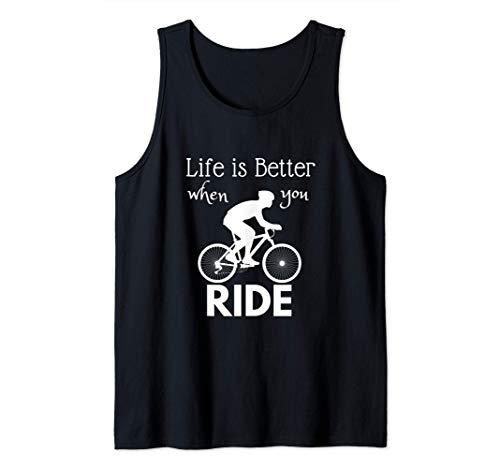 La vida es mejor cuando andas en bicicleta Diseño de Camiseta sin Mangas