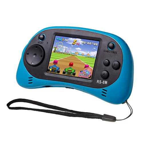 EASEGMER Kids Handheld Game Portable Video Game Player with 200 Games 16 Bit 2.5 Inch Screen Mini Retro Electronic Game Machine ,Best Gift for Child (Blue)