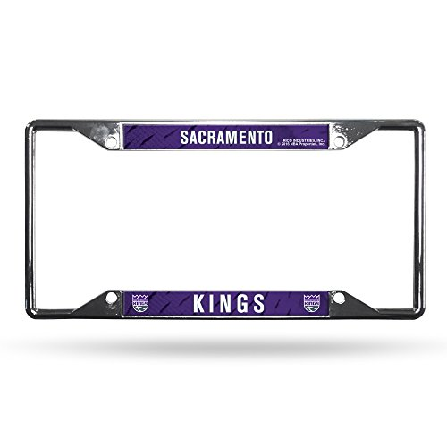 NBA Rico Industries Easy View Chrome License Plate Frame, Sacramento Kings