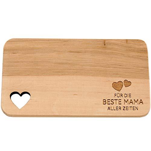 Tagliere per la colazione in legno con scritta in lingua tedesca