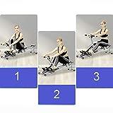 Rowing Machines Faltbare Rudergerät Trac Glider Home Gym Workout Ausrüstung Übung Rower mit LCD-Display 330 LB Gewicht Kapazität - 2