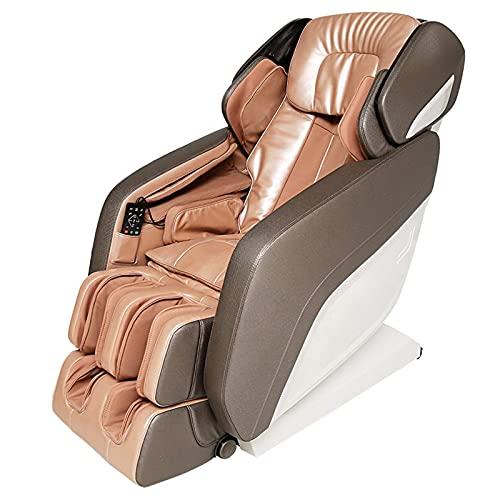 Sillón de masaje reclinable con gravedad cero, Presidente 3D de cuerpo completo Shiatsu reclinable de lujo del masaje con presión de aire, Bluetooth, el calor y rodillo del pie incluido, el naranja