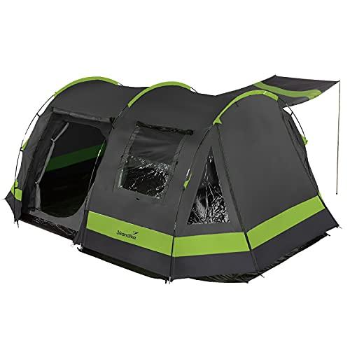 Skandika Kambo para 6 Personas - Tienda de campaña Tipo túnel - Cabina para Dormir para 6 Personas - Impermeable con 3000 de Columna de Agua - 2 m de Altura - 3 entradas