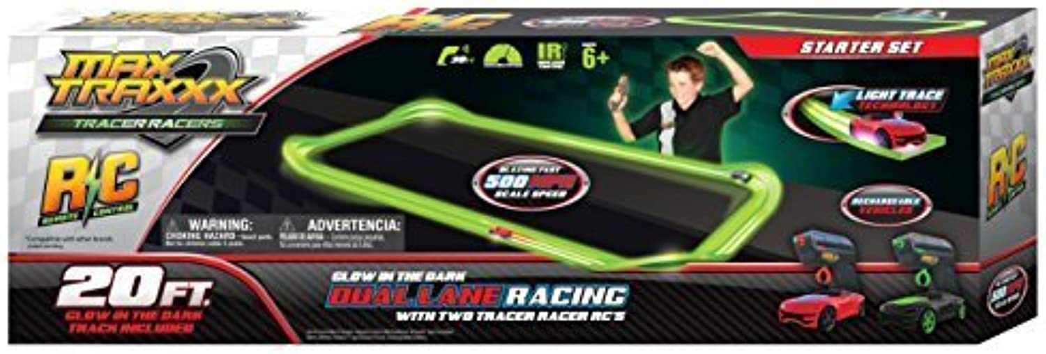 Max Traxxx Tracer Racers R C High Speed Remote Control Starter Track Set by Max Traxxx