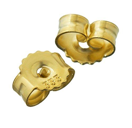 NKlaus 1 par 333 Oro Amarillo de 8 Quilates de Oro 5,5mm de apareamiento para los Pendientes de los Pernos prisioneros pousettes Oreja Tuerca Cierre de Mariposa Agujero: 1,1mm 4748
