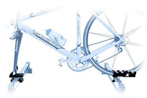 PROPOSTEONLINE Portabici per Tetto Auto Porta Biciclette Universale con Attacco a Forcella Adattabile a Bici di Ogni Genere Sportive MTB da Corsa